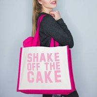 Slogan Gym Bag 'Shake Off The Cake'