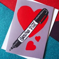 Ultra Fine Pen Anniversary And Valentines Card