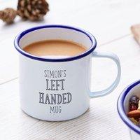 Left Handed Personalised Enamel Mug