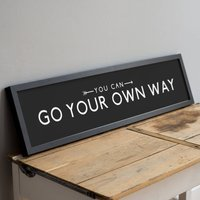 'Go Your Own Way' Positive Quote Bus Blind Print