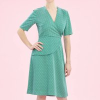 Wrap Style Dress With Forties Detail