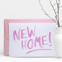 New Home Brushed Greeting Card
