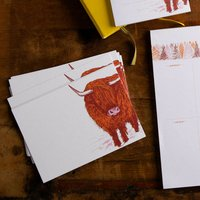 Highland Cow Note Cards 10pck