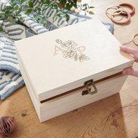 Personalised Birth Flower Keepsake Box