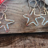 Recycled Sparkly Stars Earring And Necklace Set