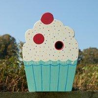 Cupcake Bird Box Baker Gift, Ivory/Brown/Pink