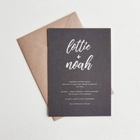 Signature Wedding Invitation / Black