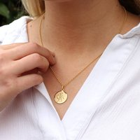 Personalised 18ct Gold St Christopher Necklace, Gold