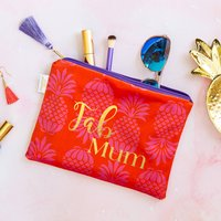 Personalised Fab Mum Velvet Pouch