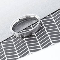 Men's Flat Stainless Steel Band Ring
