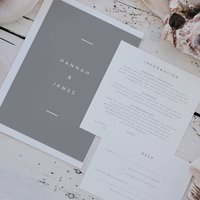 Hannah Grey Wedding Invitation Set