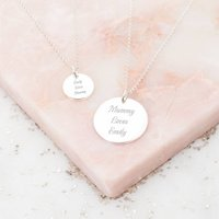 Personalised Mother And Daughter Necklace Set, Rose Gold/Rose/Gold