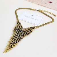 Metal Feather Wing Necklace
