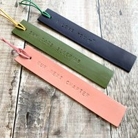 Personalised Painted Leather Bookmark