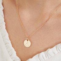 Personalised Initial And Date Necklace