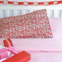 Festive Liberty And Gingham Bed Linen Set