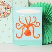 Personalised Octopus Birthday Card