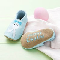 Personalised First Easter Baby Shoes, Baby Pink/Pink/White
