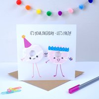 Happy Birthday Let's Party Greeting Card