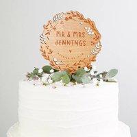 Woodland Wedding Cake Topper Botanical