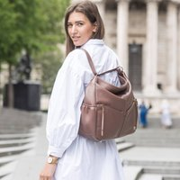 Lennox Mink Crossover Leather Handbag