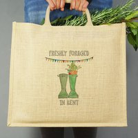 Personalised Town And Country Jute Bag
