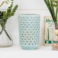 Sage Ceramic Battery Lantern