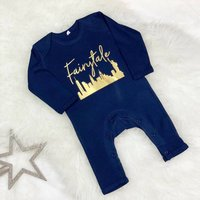 Fairytale Over New York Christmas Baby Rompersuit