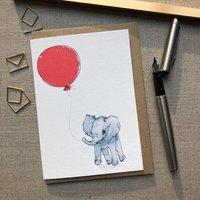 Personalised Elephant Birthday Card