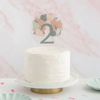 Balloon Arch Age/Number Birthday Cake Topper
