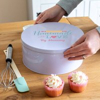 Personalised Homemade With Love Cake Tin