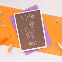 Goat Card