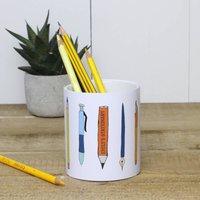 Personalised Ceramic Pencil And Pen Holder