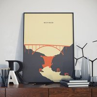 Hoover Dam Poster. Nevada Grand Canyon Poster