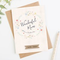 Personalised Mother's Day Card Wonderful Mum