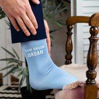 Personalised 'Team' Groom Or Bride Wedding Socks