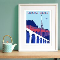 Crystal Palace Print In Football Club Colours