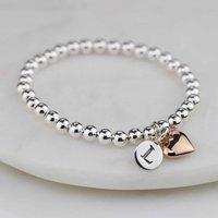 Personalised Childrens Rose Gold Heart Bracelet, Gold