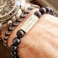 Men's Personalised Water Sign Bead Bracelet