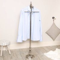 Gentlemens Silver Effect Free Standing Clothes Valet