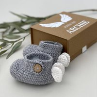 Personalised Babies First Angel Wing Shoes