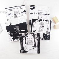 Set Of Five Black And White Baby Books