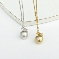 Apple Necklace, Silver/Gold