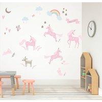 Forest Unicorns Fabric Wall Stickers