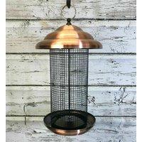 Giant Copper Style Lantern Nut Bird Feeder