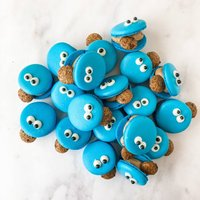 Cookie Monster Themed Macarons
