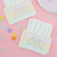 Pastel Foiled Cake Shaped Party Napkin