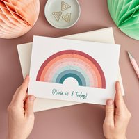 Personalised Sparkly Rainbow Birthday Card