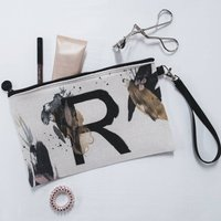 Personalised Painted Letter Make Up Bag