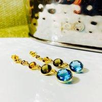 Multi Gemstone Cocktail Earrings